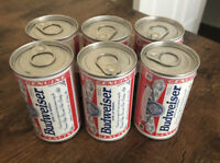 Budweiser Vintage Mini Six Pack Beer Cans With Golf Balls Inside