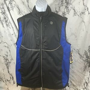GOLDS GYM Men's Full Zip Outdoor Cycling Running Reflective Vest Size L/XL - NWT
