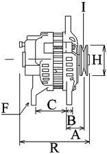 Lichtmaschine Ersatz für Denso 2702012011 2702012012 0210000081 14129 Toyota NEU