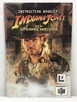N64 Indiana Jones and the Infernal Machine Manual Only *Authentic* *No Game*
