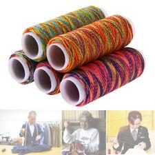 5 Stücke Multicolor Nähset Nähgarn Sortiment Nähmaschinengarn Regenbogen bunt