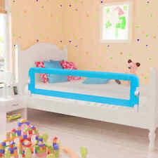 vidaXL Barrière de Sécurité de Lit Enfant Bleu 120x42 cm Polyester Rail Bébé