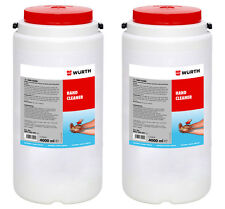 Genuine Wurth Hand Cleaner 4000ml Garage Natural Cleanse Solvent Free Tub x2