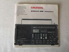 Grundig Satellite 600 manuale