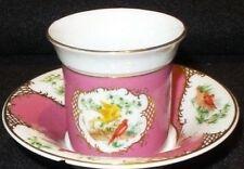 Vintage Bird of Paridise European Collection Demitasse France Tea Cup & Saucer