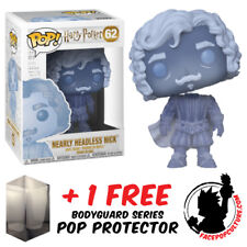 FUNKO POP HARRY POTTER NEARLY HEADLESS NICK EXCLUSIVE + FREE POP PROTECTOR
