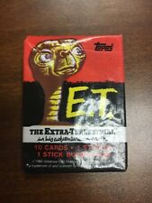 VINTAGE E.T. cards, sticker, and bubble gum collectables