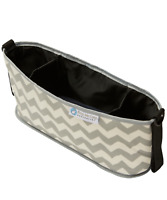 Keep Me Cosy™ Pram & Stroller Organiser, Cup Holder Caddy Bag - Grey Chevron