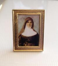 St Mary MacKillop Standing gold metal plaque 4cm (H)