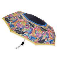 Laurel Burch Dogs/& Doggie Fushia Lime Green Compact Umbrella Auto Open Close New