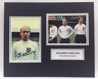 Raro Bobby Charlton Inghilterra Mondo Coppa 1966 Autografato Foto Display + COA
