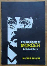 The Business of Murder programme May Fair Theatre April 1988 ed Douglas Fielding