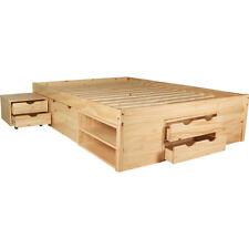 KMH® Multifunktionsbett 140 x 200 cm Jugendbett Kinderbett Doppelbett Nachttisch