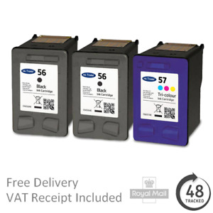 Premium Remanufactured 56 Black & 57 Colour Ink Cartridges For HP Printers