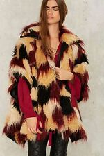 Nasty Gal Patchwork in the Rye Cape Coat XS/S new with tag