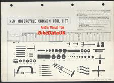 Genuine Honda manual de herramientas comunes CBX CB 400 500 550 750 cuatro ST TL GL XR XL SL