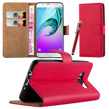 Flip Leather Wallet Book Case Cover Pouch for Various Mobile Phone Screen Guard Samsung Galaxy J5 Red