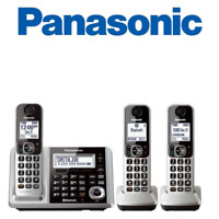Panasonic KX-TGF373S Link2Cell Bluetooth 3 Cordless Phones  Answering Machine