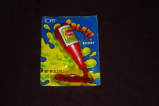 RARE HTF Vintage 1987 TOPPS Splat! Candy Ketchup Bottle NEW AND SEALED ON CARD