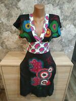 Desigual women's dress size S black- multi color