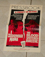 original I DISMEMBER MAMA & THE BLOOD SPATTERED BRIDE combo pressbook