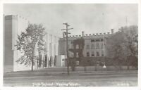 Yakima Washington~High School~Castellated Old Building~ART DECO Annex~1950s RPPC