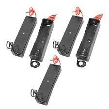 5pcs Black Battery Storage Box Case Holder for 3.7V18650x1 Batteries LW
