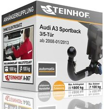 Anhängerkupplung starr AUDI A3 SPORTBACK 3//5-Tür ab 2008-2013+E-SATZ 7 polig ABE