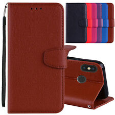 Litchi Leather Wallet Flip Stand Cover Case For iPhone X XR XS Max 7 8 6 6s Plus