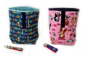 Kinder Lunchbag, Brotdose, Handmade, Geschenk, Pauli Maulwurf, Pippi, frech wild