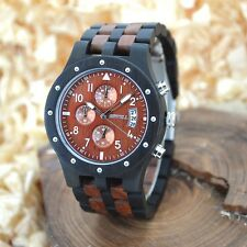 New Brand  BEWELL Wood Watch Men Wooden Vintage Mens Watches mens w/box