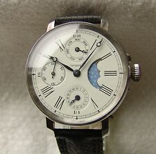 RARE MOON PHASE CALENDAR COMPLICATION VINTAGE POCKET WATCH MOVEMENT pre-1900