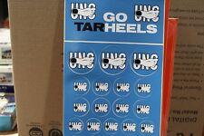 UNC Tarheels  STICKER SHEET  22 stickers, new old stock, dusty