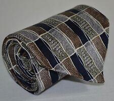 Retro Pierre Cardin Multicolor Tile Print X-Long Wide Men's Power Tie 100% Silk