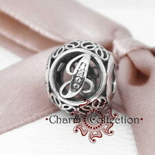 Pandora, S925, Vintage Alphabet Letter J, Bracelet Charm, NEW, 791854CZ