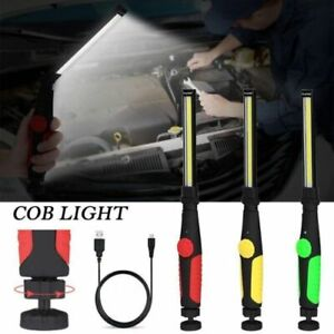 Rechargeable COB LED Work Light Flashlight Lamp Torch 360 USB Cable Workshop