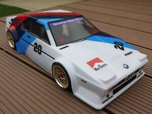 Unpainted 1/10 Classic BMW M1 Procar M Power RC Touring Car Body + decal 190 200