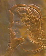 """YOUNG GIRL"" by FREEMAN ETCHED COPPER 6 1/4""X 7 1/2"""