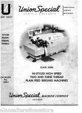 Union Special 39500 Overlocker Machine Operator Manual