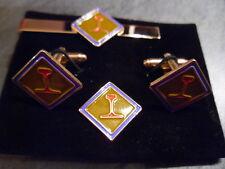 Railway Operator badge  Cufflink / Tie slide/ lapel pin set , RLC
