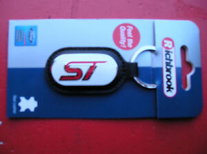 Richbrook Ford Collection New ST key Ring Black leather ,Red ST logo on white