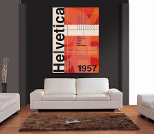 Helvetica storia Giant WALL ART PRINT PICTURE POSTER