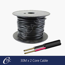 30M x 2 Core Cable Wiring Wire Trailer Parts Caravan Car LED Lights