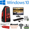 Fast Core 2 Duo Gaming PC Monitor Bundle 4GB RAM 500GB HDD W10 Computer