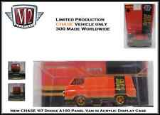 M2 1:64th Diecast Car GOLD CHASE '67 Dodge A100 Panel Van in Display Case