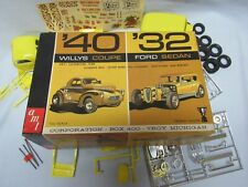 AMT '40 Willys Coupe '32 Ford Sedan Double Kit Trophy Series 1/25 Model 2532-200