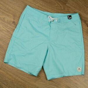 Billabong Mens Boardshorts Aqua Blue Cotton Polyester New Authentic Size 34