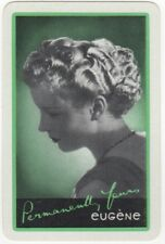Playing Cards 1 Single Card Old EUGENE Advertising Art HAIRDRESSING Lady Girl 4
