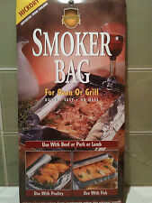 Scandinavian SAVU cooking smoker bags. PK 12 HICKORY for Fish, Meat & Veg