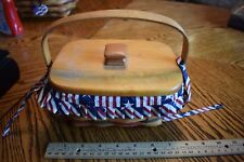 Longaberger 1997 All American Patriot Basket w/ Lid Liner and Divided Protector